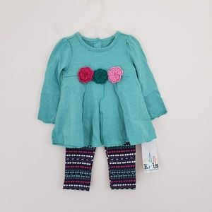 2 Piece Crochet Flower Outfit - 12 mos - NWT!